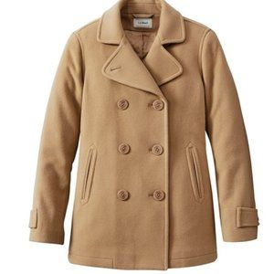 L.L. BEAN Women's Wool Classic Cashmere PeaCoat 6P